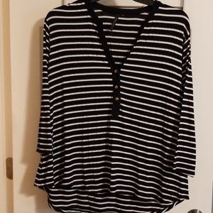 Cathy woman striped top